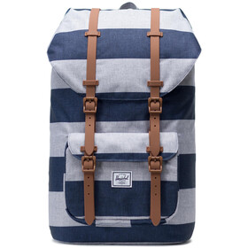 Herschel Little America rugzak, border stripe/saddle brown